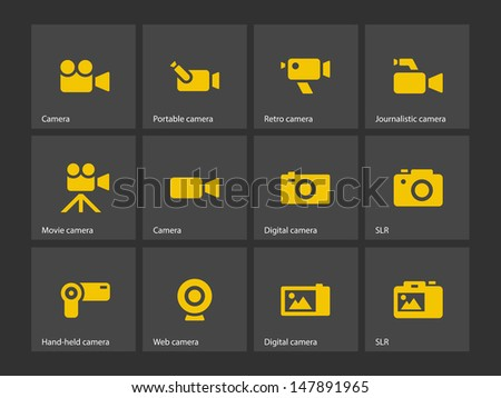 Camera icons. Vector illustration. - stock vector