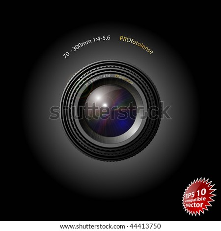 Camera lens EPS10 compatible - stock vector