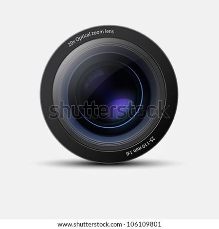 Camera lens. Vector - stock vector