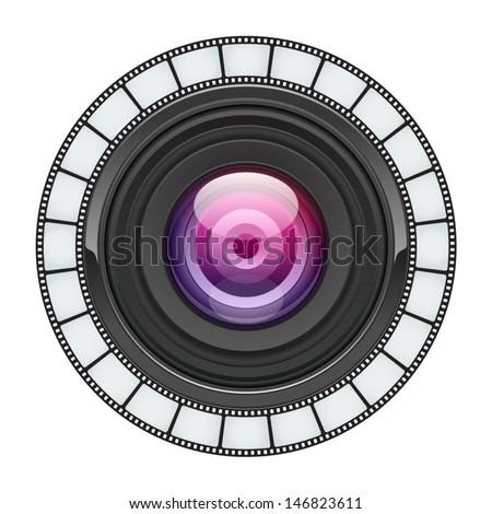 Camera lens vector background. Eps 10.  - stock vector