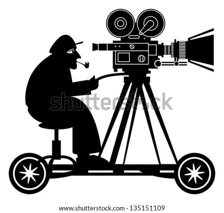 Camera man, vector illustration - stock vector