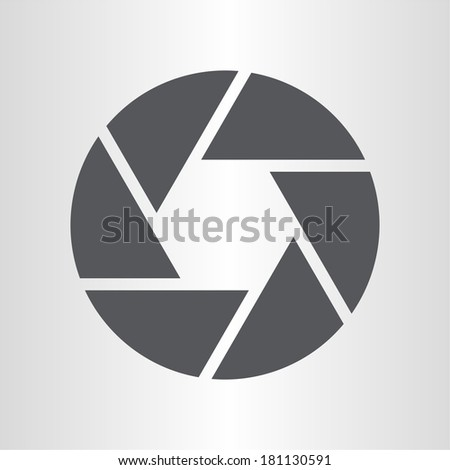 Camera objective icon - stock vector