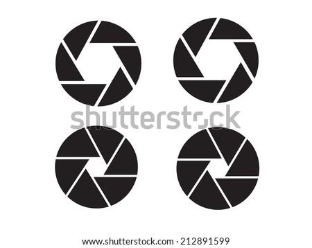Camera objective icon,shutter icon,camera isolated,shutter vector - stock vector