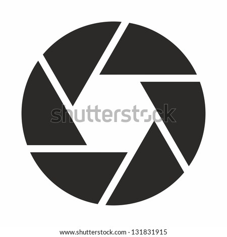 Camera objective icon (symbol) - stock vector