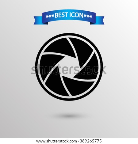 Camera objective  icon vector eps 10 icon, Camera objective vector icon for web i mobile,  Camera objective vector icon on gray background - stock vector