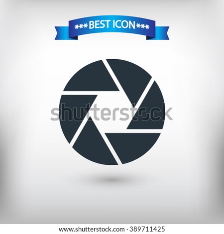 Camera objective vector eps 10 and jpg. Flat style Camera objective icon for web sites. Camera objective icon on a gray background.  - stock vector