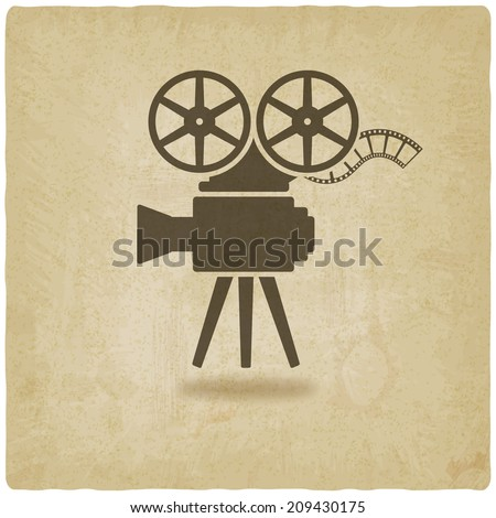 camera old background - vector illustration. eps 10 - stock vector