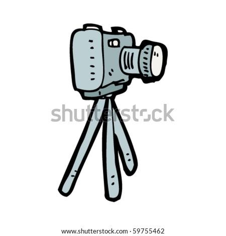 camera on tripod cartoon stock vector 59238322 shutterstock. Black Bedroom Furniture Sets. Home Design Ideas