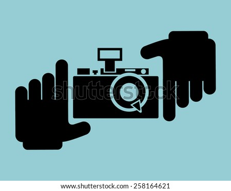 camera photographic design, vector illustration eps10 graphic