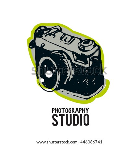 Camera photography studio vector logo illustration. - stock vector