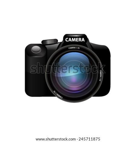 Camera set. Vector - stock vector