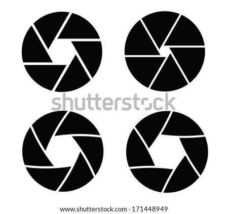 camera shutter - stock vector