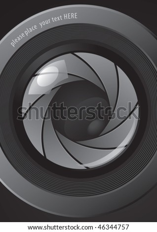 Camera shutter apertures, vector  for new poster design - stock vector