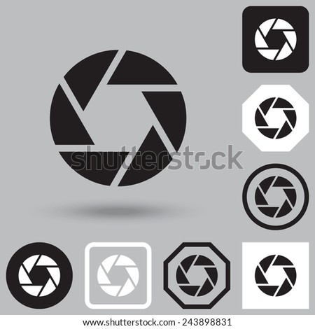 Camera shutter icon. - stock vector