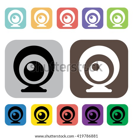 Camera symbol icons set.Vector illustration