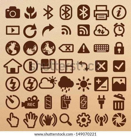 Camera symbols - stock vector