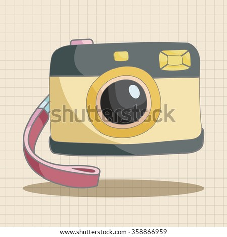 camera theme elements - stock vector