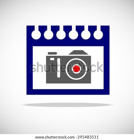 camera vector digital black lens focus photographer - stock vector