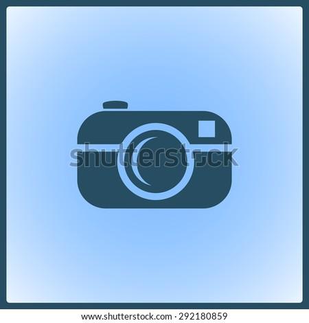 Camera vector icon  - stock vector