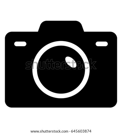 camera vector icon stock vector 645603874 shutterstock rh shutterstock com photo camera vector icon camera vector icon