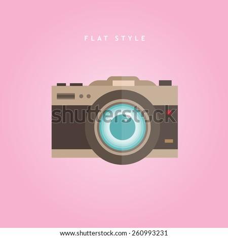 Camera vector icon illustration  - stock vector