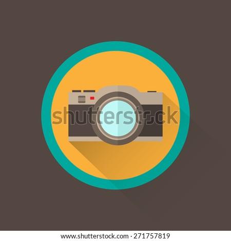 Camera vector illustration - stock vector