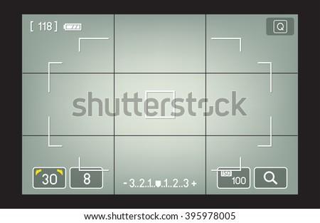 camera viewfinder vector - stock vector