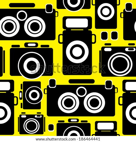 cameras icons seamless pattern - stock vector