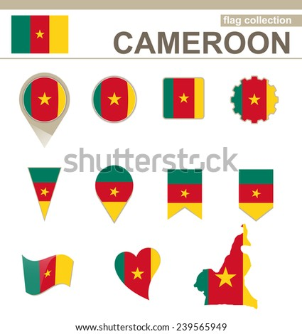 Cameroon Flag Collection, 12 versions