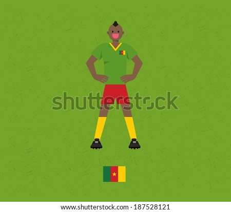 Cameroon Soccer Tables  - stock vector