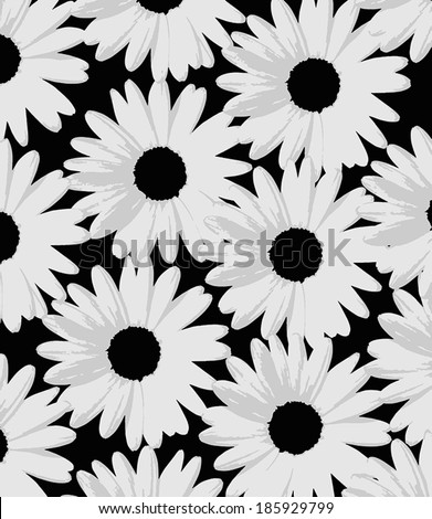 Camomile themed background design. - stock vector