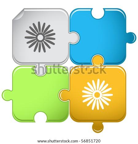 Camomile. Vector puzzle. - stock vector