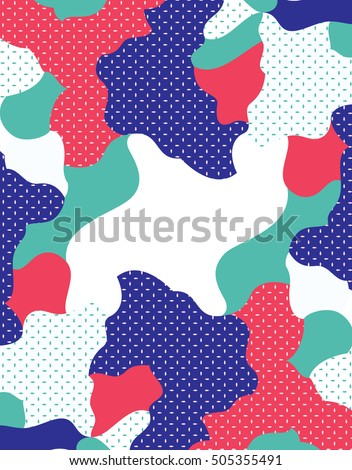 Camouflage background pattern. Colourful camouflage in dotted background. Camouflage vector.
