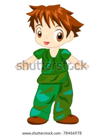 Camouflage Boy - stock vector