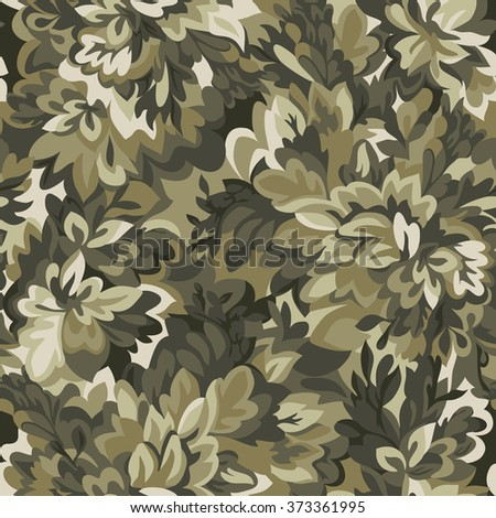 camouflage leaves ~ seamless background - stock vector