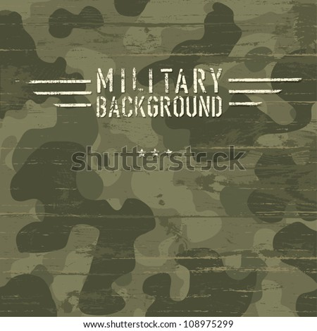 Camouflage military background. Vector illustration, EPS10 - stock vector
