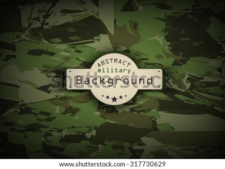 Camouflage military pattern background. Vector illustration, EPS - stock vector