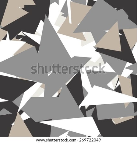 Camouflage pattern of the triangle seamless vector background.
