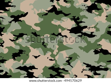 Camouflage pattern with green tones. vector illustration