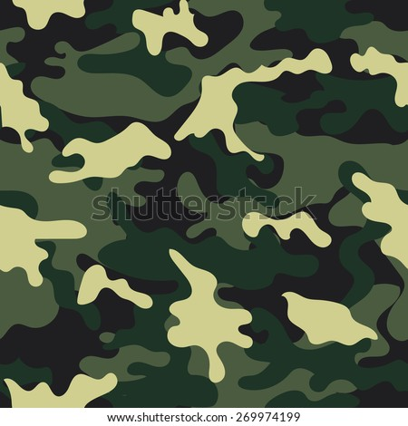 Camouflage seamless pattern. - stock vector