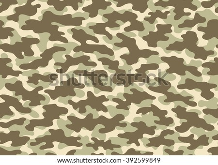 Camouflage seamless pattern, surface texture. Print for Textile Design, Wallpaper, Web page background / Vector Illustration - stock vector