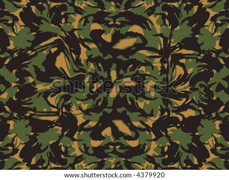 Camouflage (tileable) - stock vector