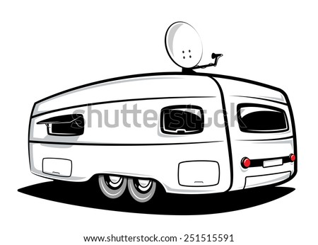 Camp trailer - stock vector