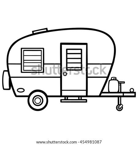Camper Illustration Stock Vector 454981087