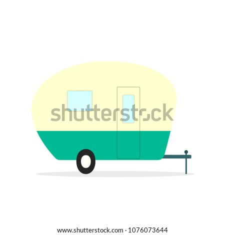 Camper Trailer Icon Camping Clipart Isolated On White Background