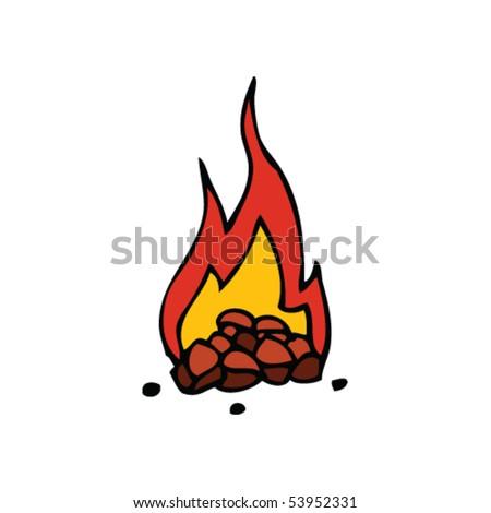 Campfire Drawing Stock Vector Royalty Free 53952331
