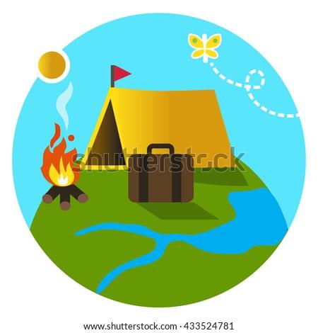 Camping - stock vector