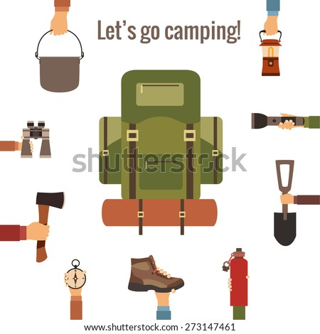 Camping concept made in vector - stock vector