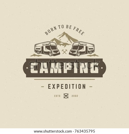 Camper Silhouette Stock Images Royalty Free Images Vectors