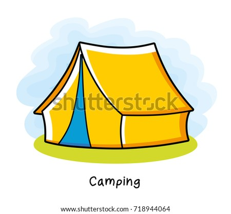 Camping Tent Icon 718944064